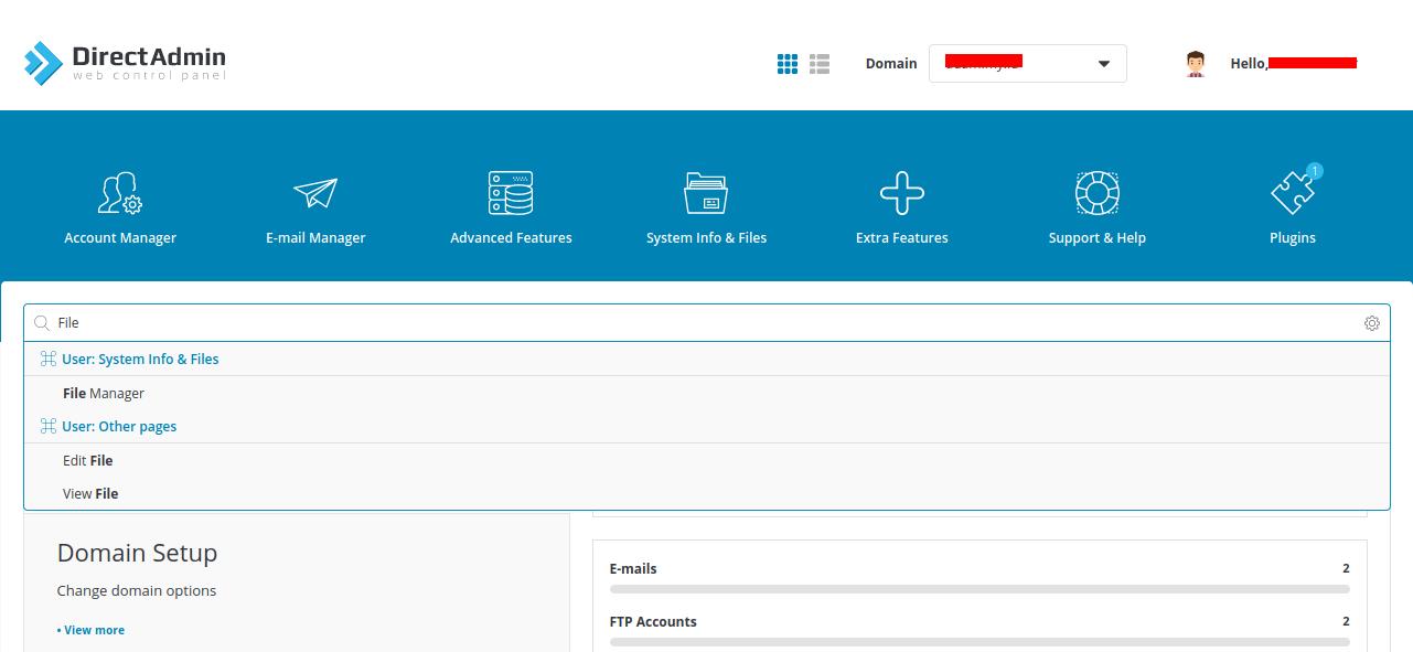 Cara Upload ke Server Directadmin melalui FIle Manager