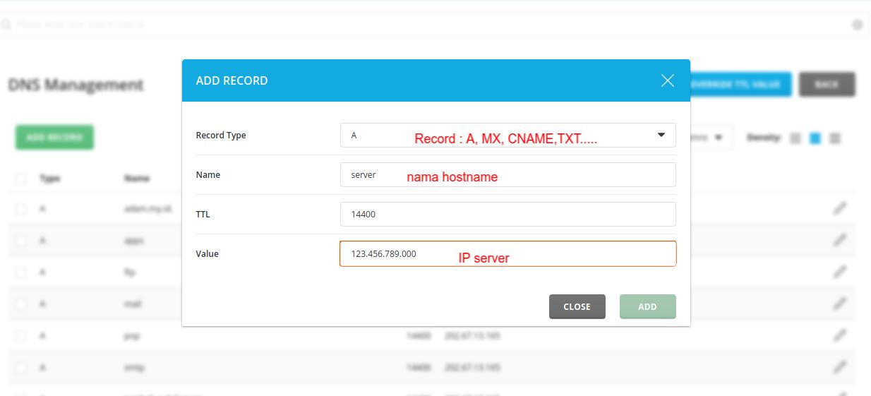 Cara menambahkan DNS Zone pada Server Directadmin