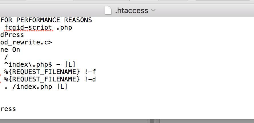 Konfigurasi .htaccess standar pada situs wordpress