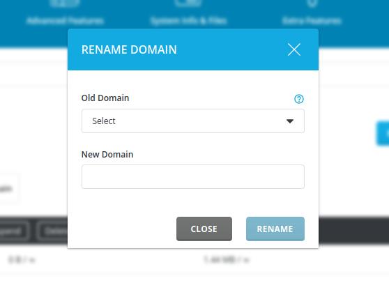change domain