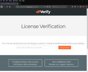 Cara melakukan pemeriksaan lisensi cpanel - alat verifikasi lisensi cpanel
